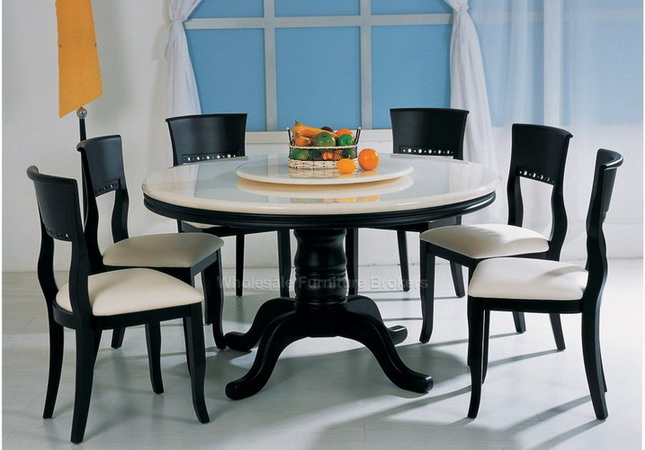 Dinning table latest modern glass wood dining table with for Exclusive dining table designs