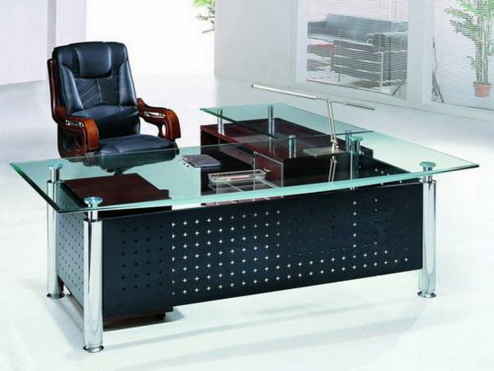 Office desks glass best home design 2018 for Best home office computer 2015
