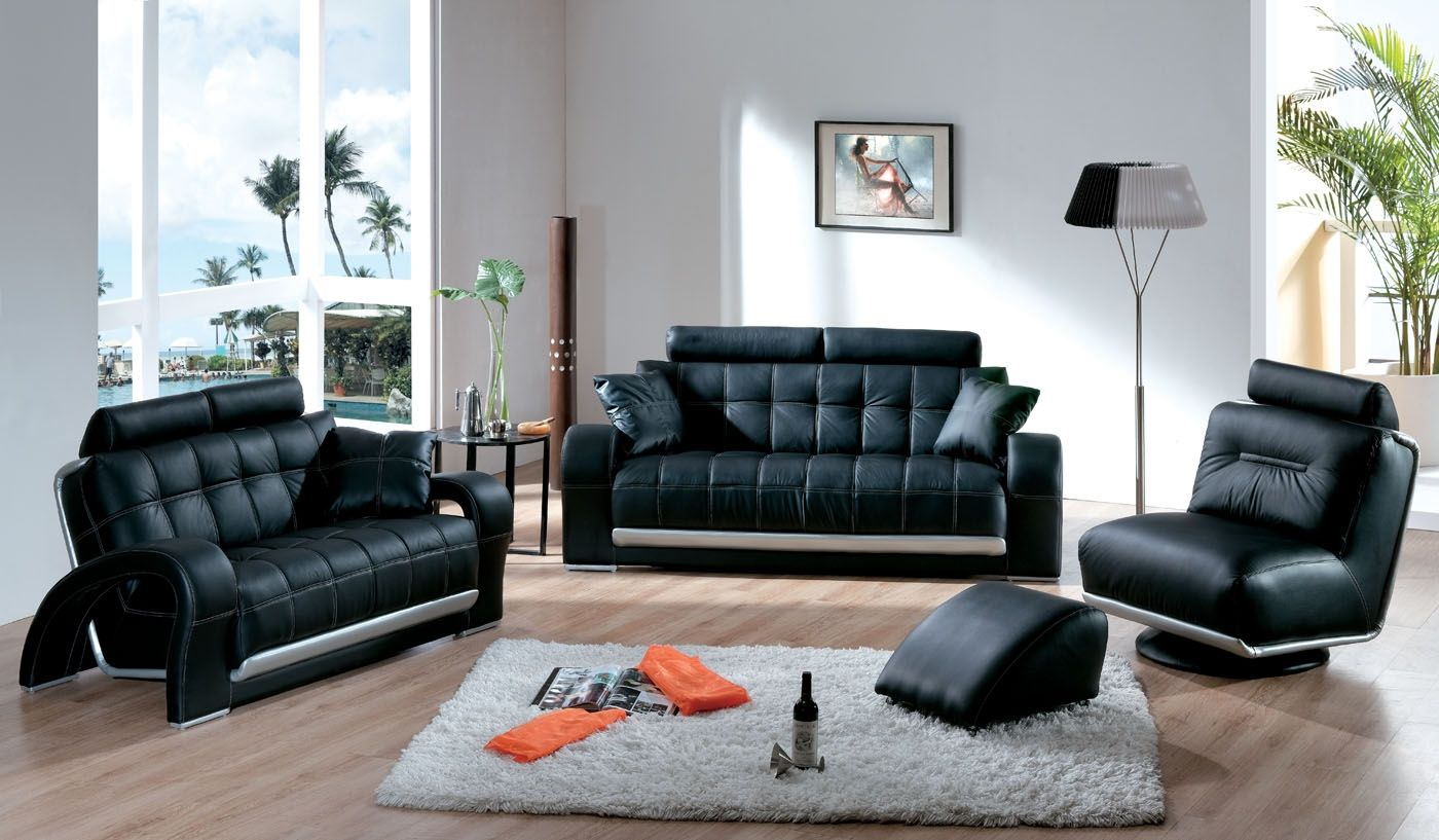 Nice sofa set latest leather sofa set designs an interior for Nice living room chairs
