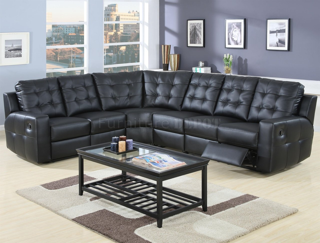 Leather Recliner Sectional Sofa. sectional leather recliner couch ...