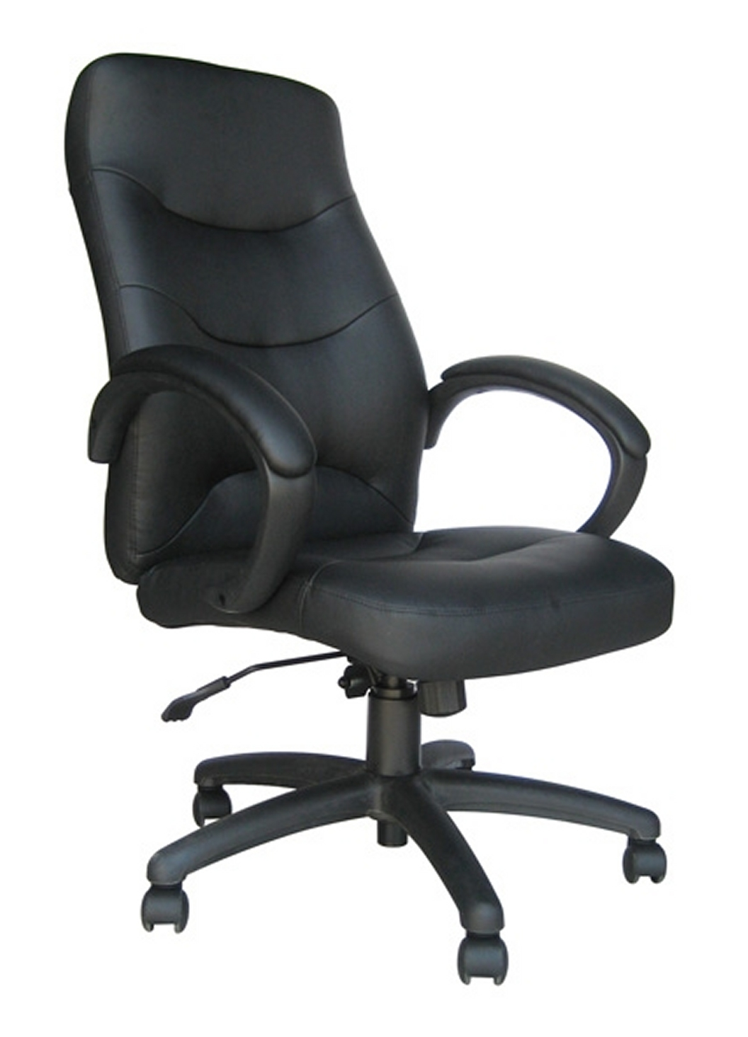 with faux curved classic office chair modern chairs leather products seat black walnut collections