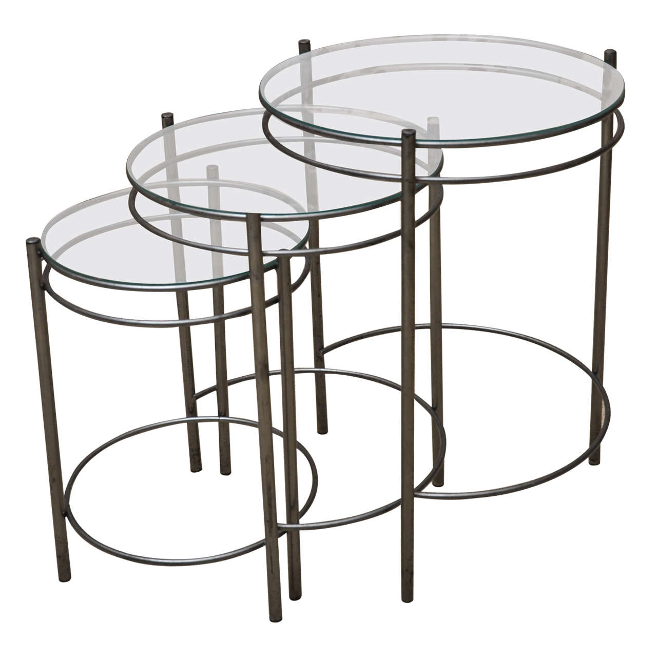 Lovely Metal U0026 Glass Nesting Tables